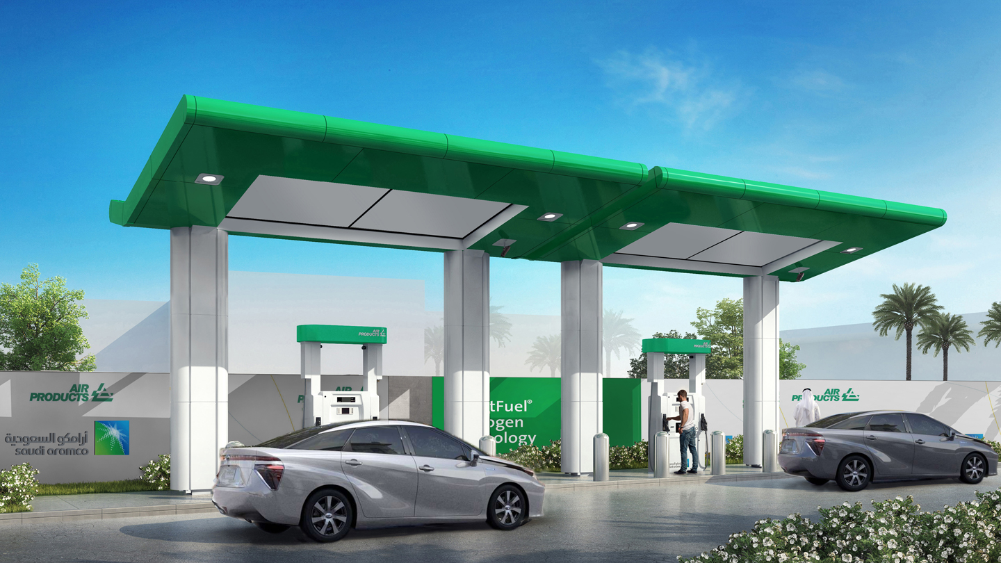 Hydrogen Fueling Stations >> Saudi Aramco and Air Products to build Saudi Arabia's ...