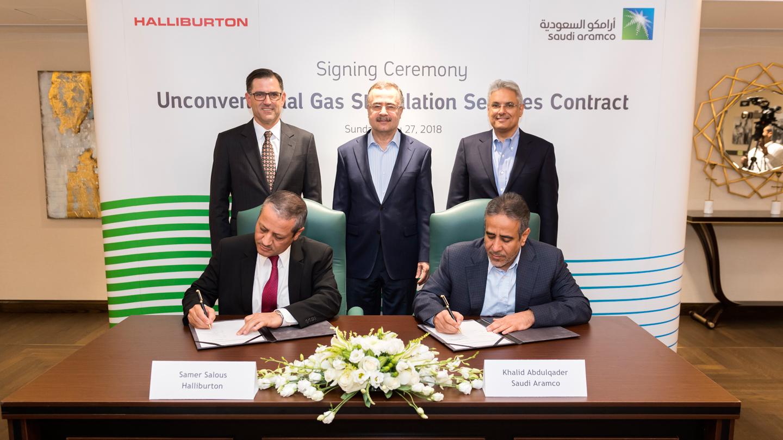 Saudi Aramco Awards Halliburton Contract for Unconventional